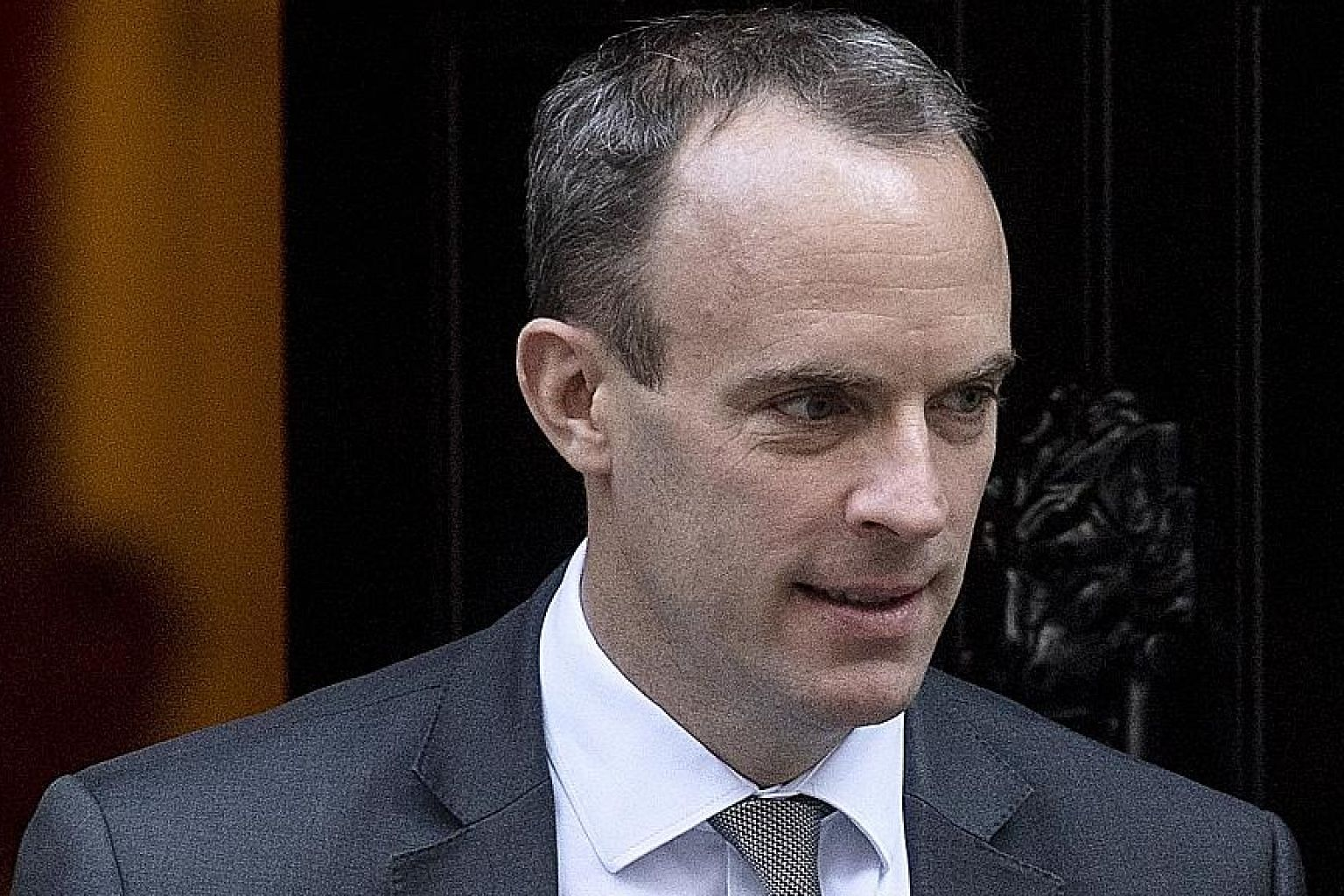 British Brexit Secretary Dominic Raab declined to say when London would publish its updated border plan.