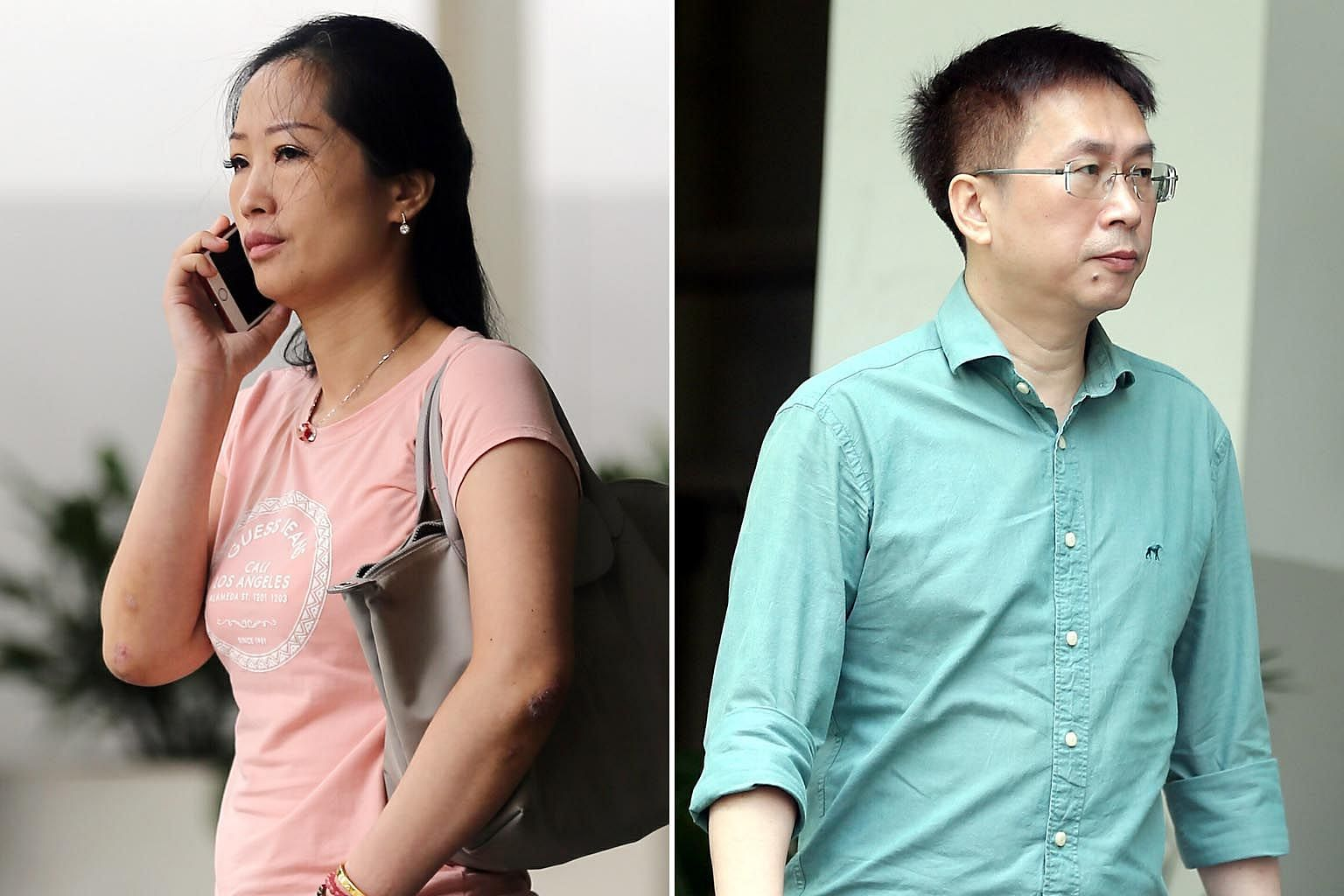 Above: Deng Yongjing (left), 44, and Deng Yiqing were among those charged yesterday over the operation of a massage establishment without a licence. Right: Repeat offender Zhang Chunhua was fined $8,000. Below left: First-timer Chew Kim Seng was fine