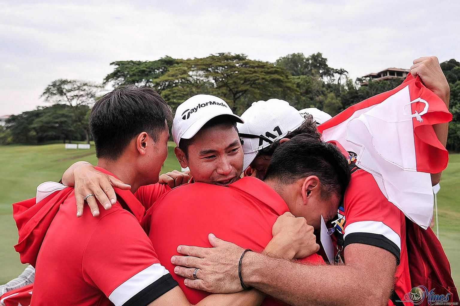 Gregory Foo (top), who was part of the 2017 SEA Games winning team (left) and Singapore national teammate Abdul Hadi (above), teed off in Karachi yesterday in their first professional challenge.
