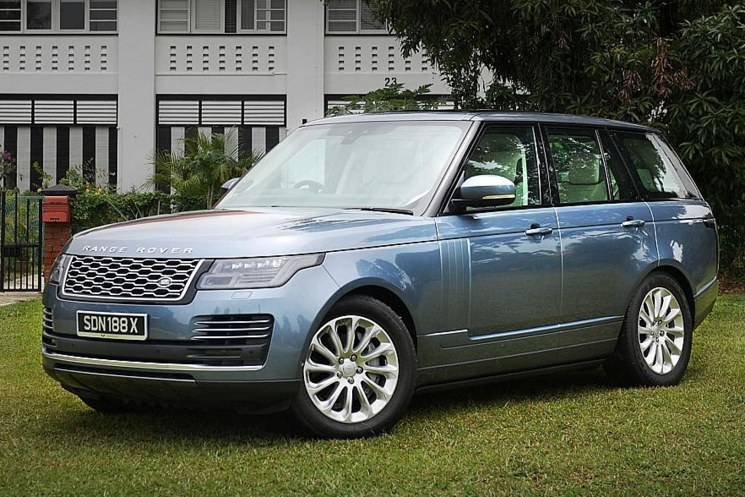 The Range Rover Vogue 3.0 V6 is one of the biggest and tallest sport utility vehicles available here.