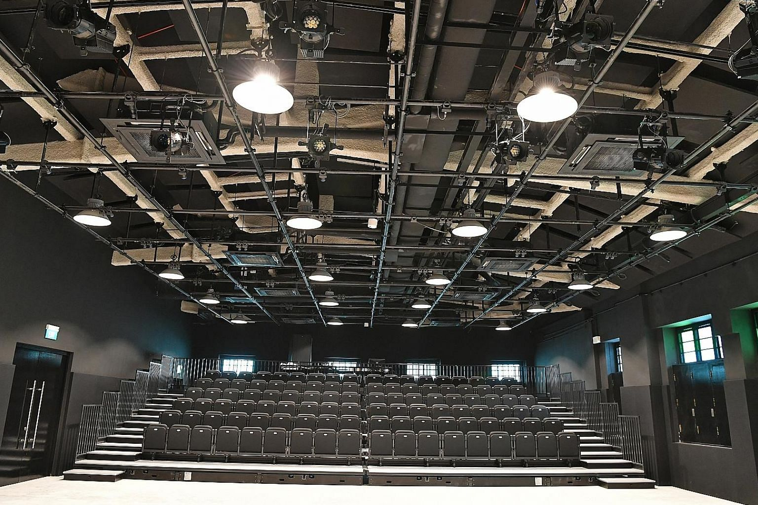 The Stamford Arts Centre in Waterloo Street boasts a new roof (left) and a black box theatre with retractable seats (above).