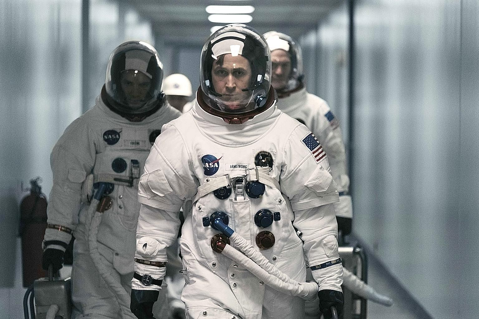 Ryan Gosling plays Neil Armstrong, a bottled-up man whose traits make him a great test pilot and mission leader, but terrible as a husband and father.