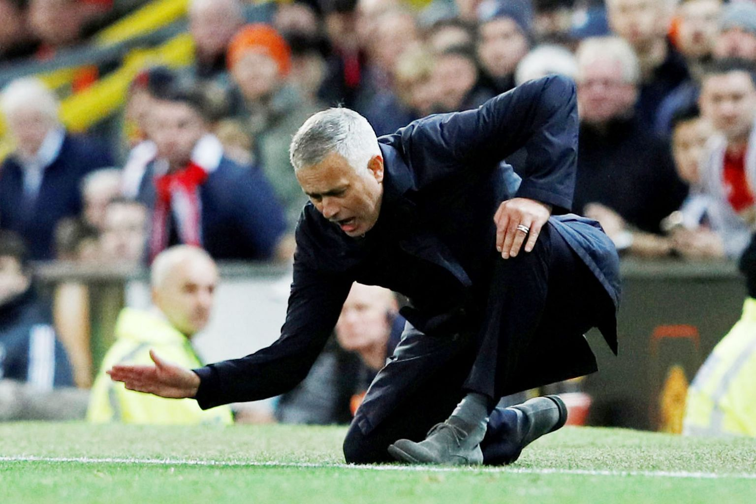 Manchester United manager Jose Mourinho, seen complaining about a passage of play against Newcastle, was charged for language used after his side's 3-2 win against the Magpies.