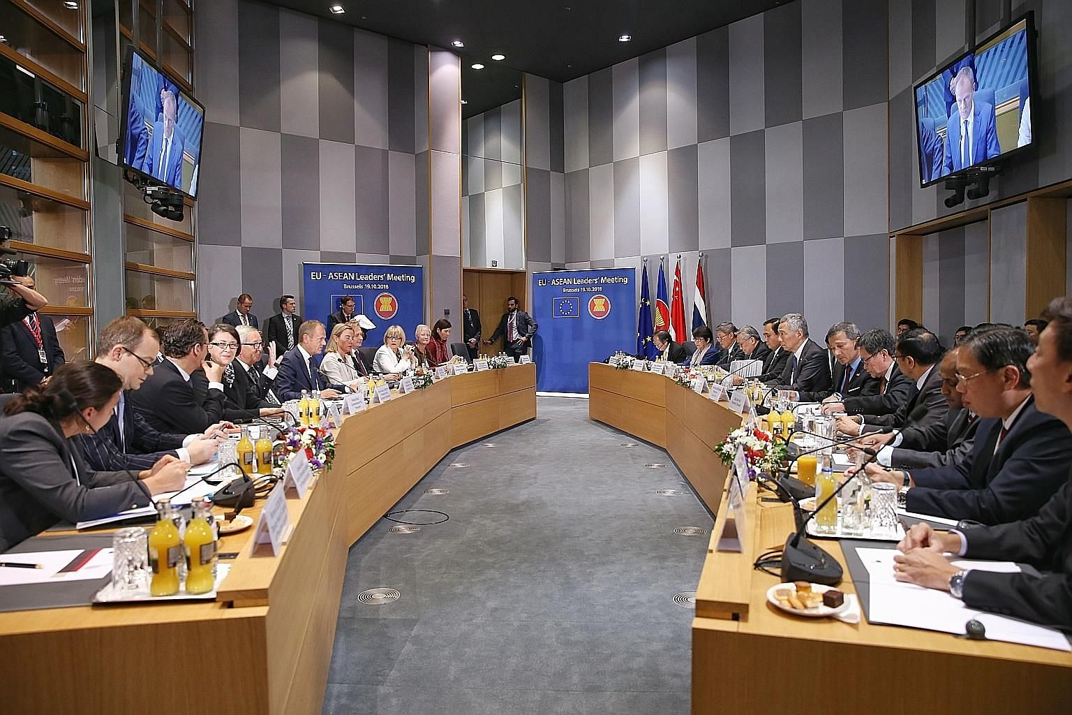 Prime Minister Lee Hsien Loong notes that the old system of multilateralism is showing its strains and limitations. Prime Minister Lee Hsien Loong with other leaders at last Friday's Asia-Europe Meeting Summit in Brussels. The summit involving 30 Eur