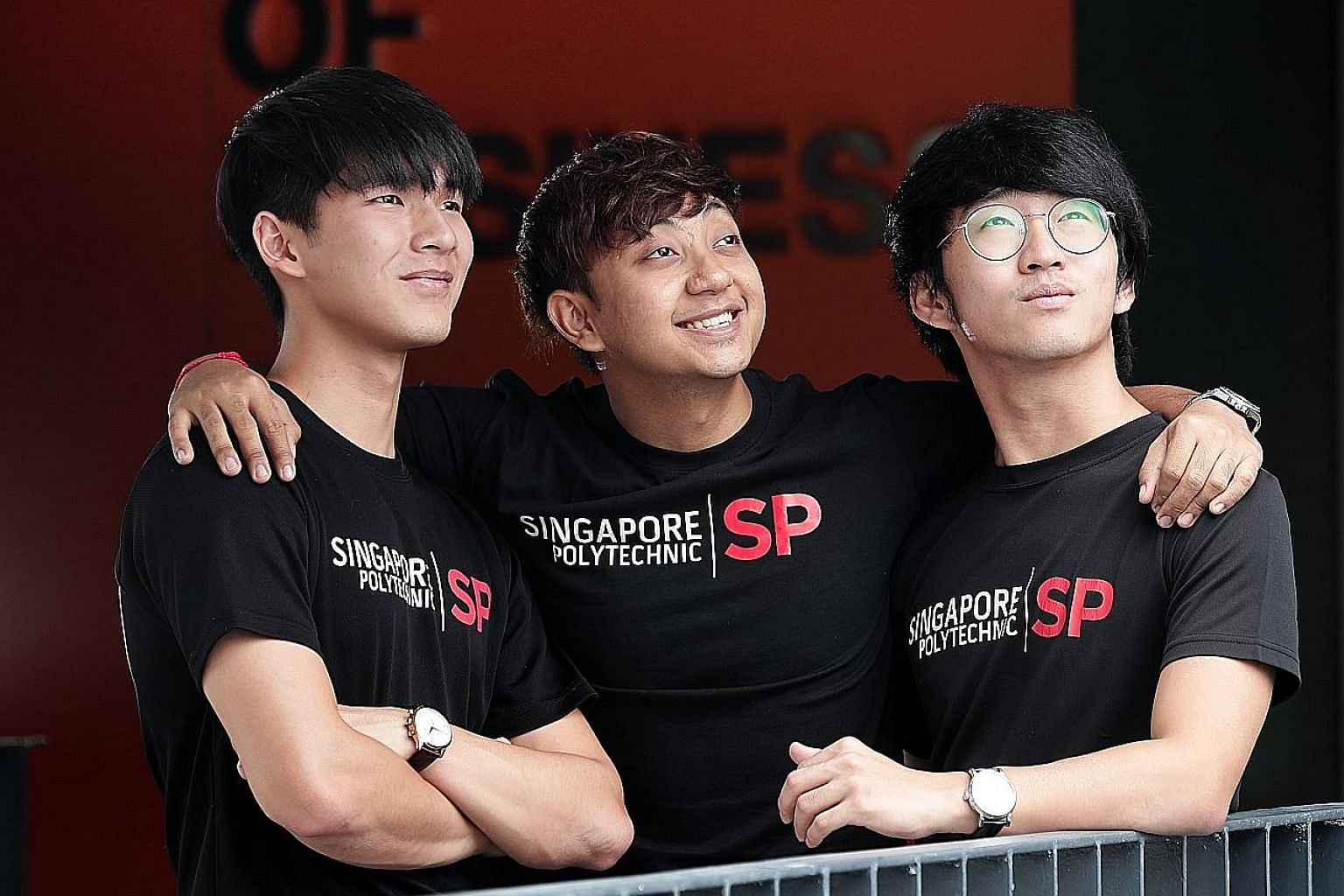 Third-year business administration students (from left) James Ang, Aung Shin Khant and Pua Seng Oon set up a shop in Myanmar selling skincare products by Korean brands. Their store made more than $20,000 in just a week of its official opening last mo