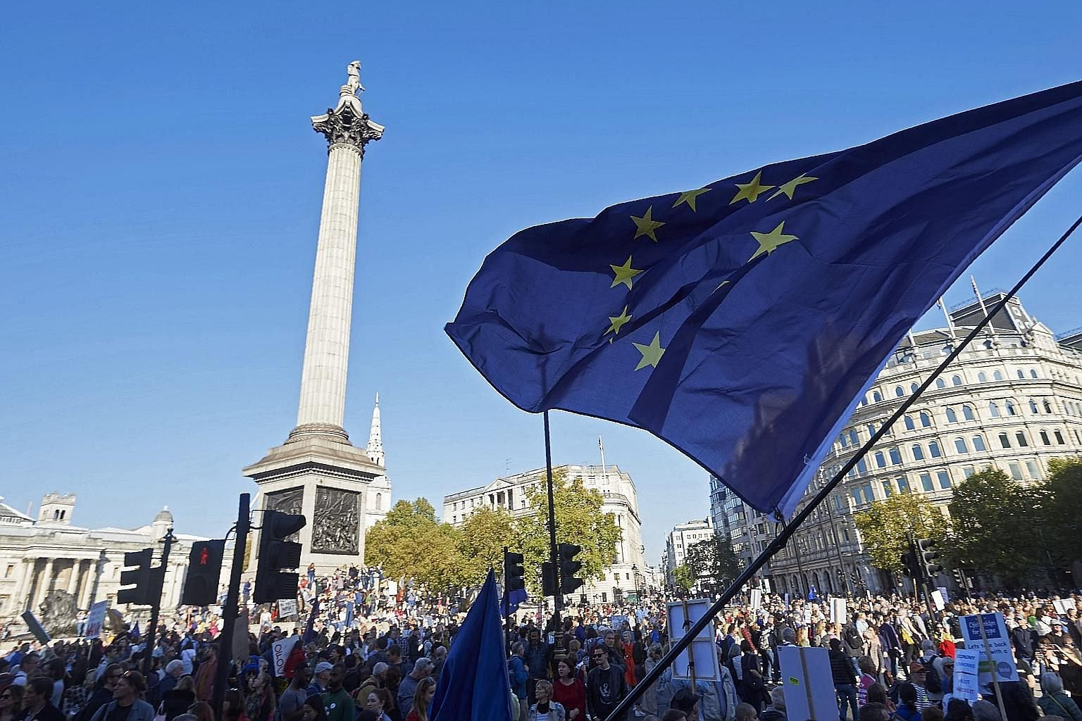 Britons dreading life outside the European Union gathered from all corners of the United Kingdom in London last Saturday to try to stop their country's looming break-up with the world's biggest trading bloc.