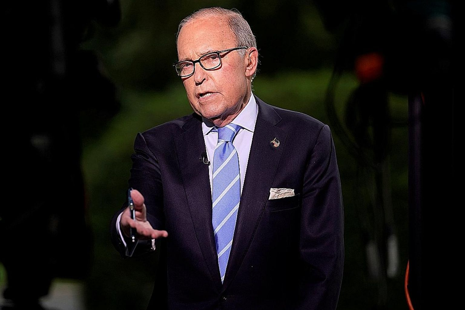 Mr Larry Kudlow's comments come as a separate report said US President Donald Trump believes it will take more time for tariffs imposed by the US on Chinese imports to bite.