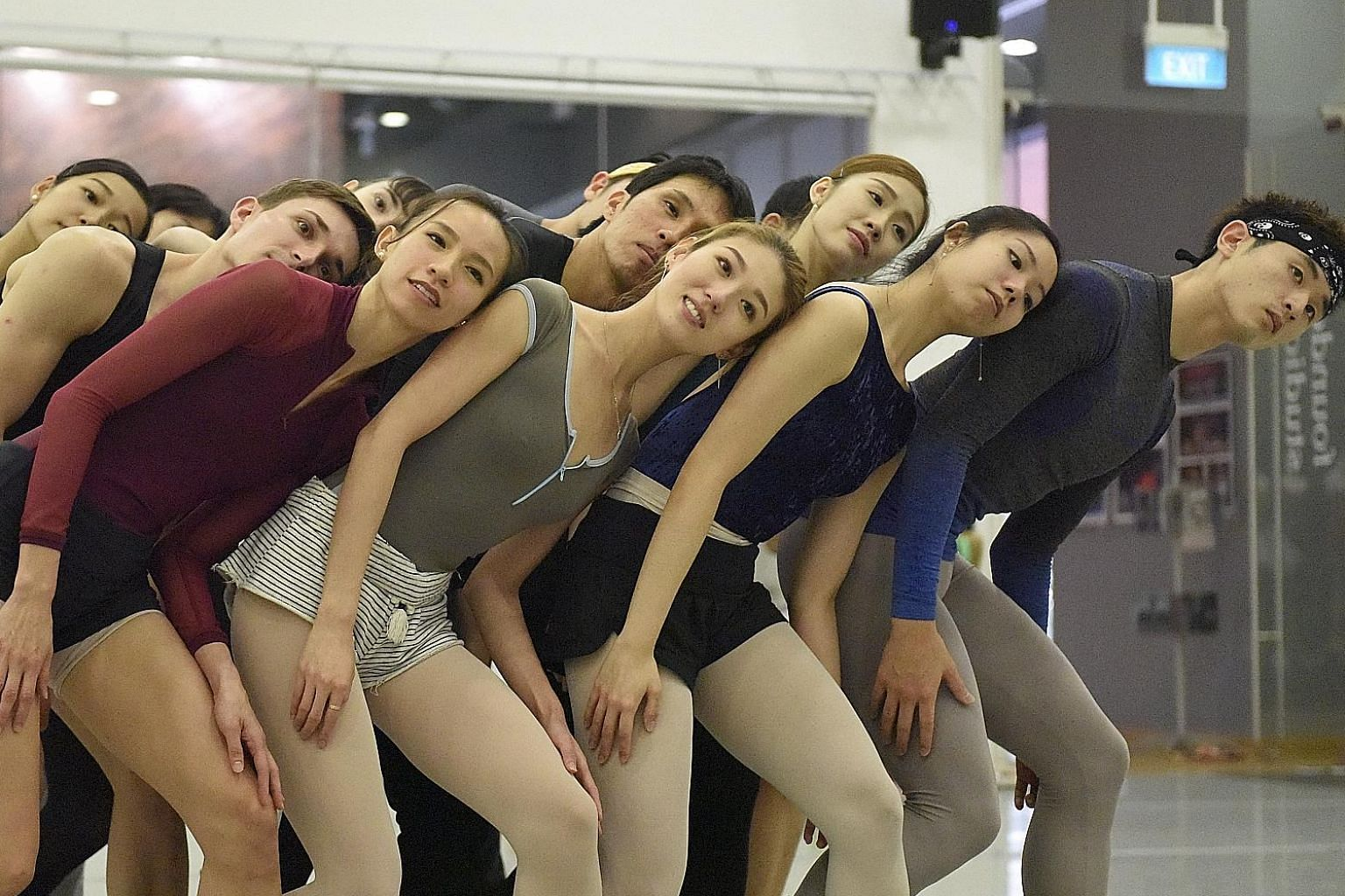 Singapore Dance Theatre dancers rehearse the 23-minute-long Evening Voices by acclaimed British choreographer Timothy Rushton.
