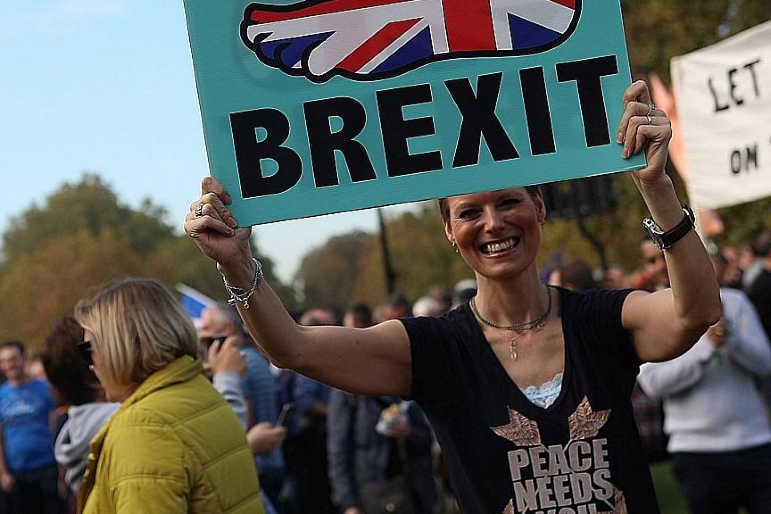 Anti-Brexit protesters marching through central London last Saturday. An audit found that uncertainty over the course of Brexit talks has delayed preparations for a no-deal scenario for businesses and the government.