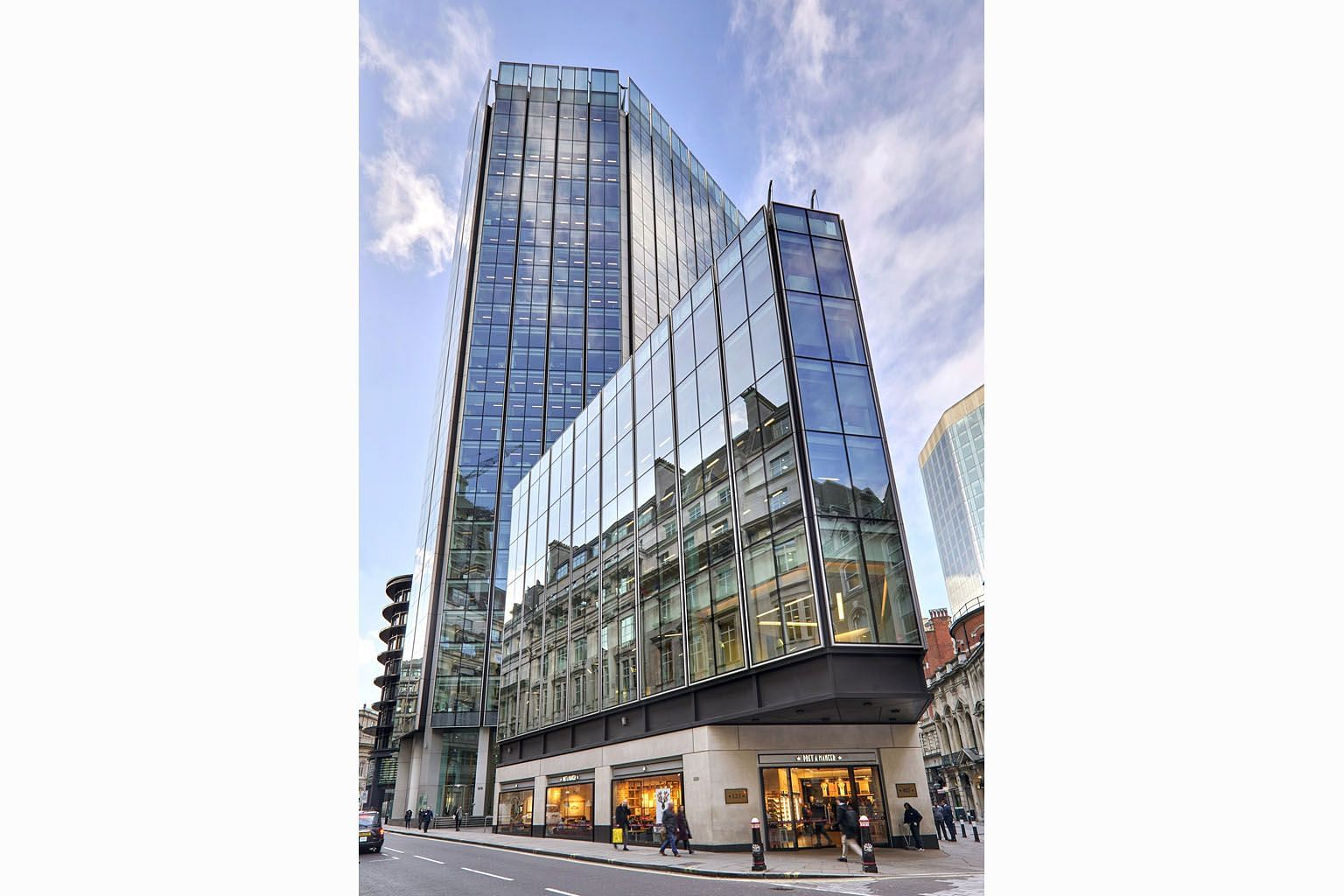 The prime 26-storey freehold building at 125 Old Broad Street in London's financial district is within walking distance from the Bank of England's headquarters.