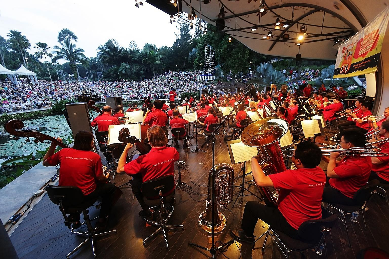 The SSO gives free performances at the Botanic Gardens quite often, and this has helped the orchestra reach those who may not usually go to its ticketed concerts, says its executive officer.