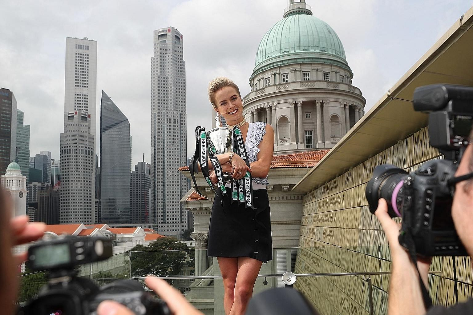 With her arms around the Billie Jean King Trophy, Elina Svitolina wraps up the fifth and final edition of the BNP Paribas WTA Finals Singapore presented by SC Global. A day after defeating American Sloane Stephens 3-6, 6-2, 6-2 in the final on Sunday