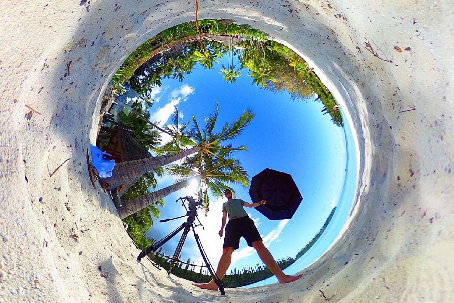 A photo taken using a 360-degree camera.