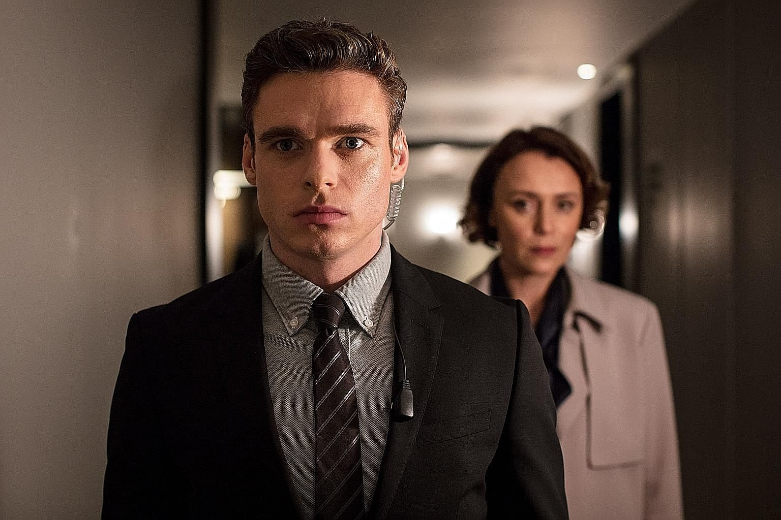 Kiernan Shipka (left) plays the titular adolescent spell-weaver in Chilling Adventures Of Sabrina. In Bodyguard, Richard Madden has to protect the home secretary played by Keeley Hawes (both above).