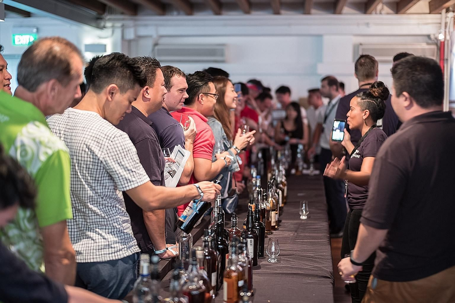 Last year's edition of Whisky Live (above), held at Robertson Quay, drew about 2,750 visitors.