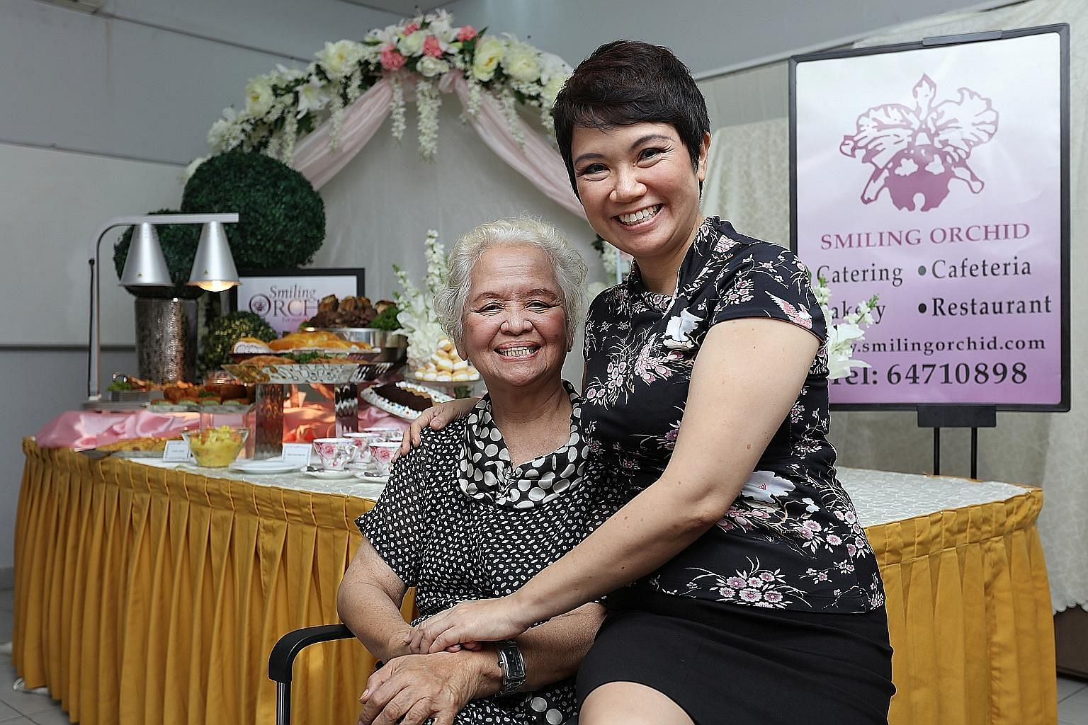 Mrs Choo Yen Lan and her younger daughter Meilyn Choo-Jaimon, who is now the company director. Ms Choo-Jaimon said her greatest wish would be to see her mother's business etched in history as a heritage brand.