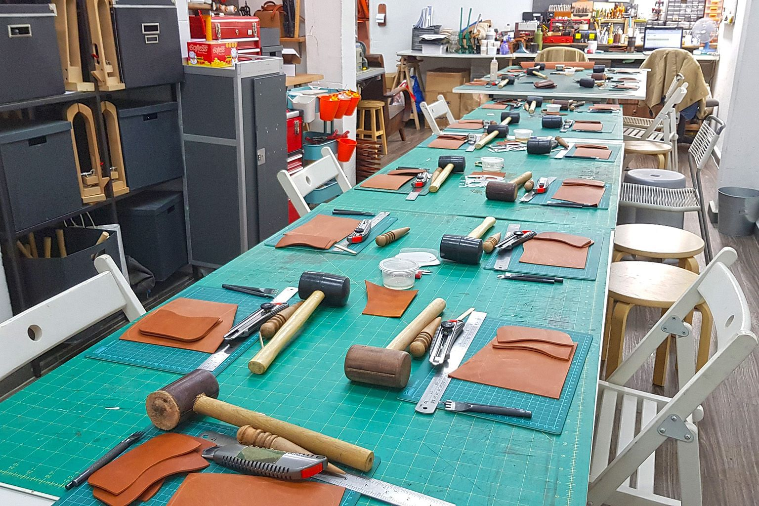 Those who sign up for the class on Dec 15 will learn to cut, assemble and hand stitch their own leather key holders.