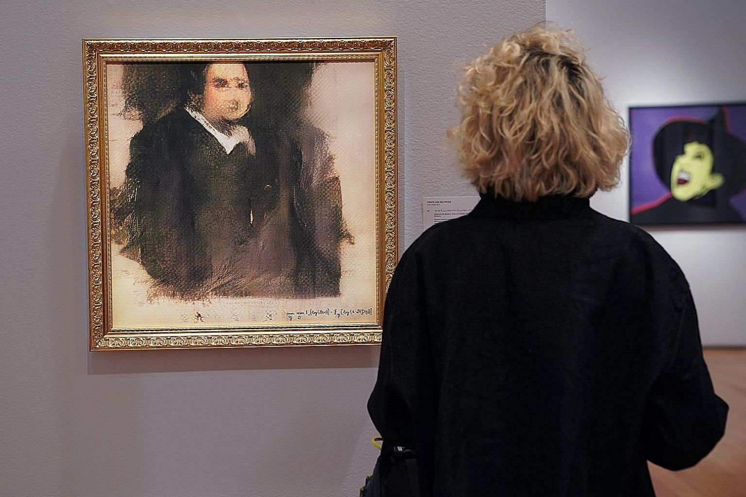 This painting, Portrait of Edmond de Belamy, was not drawn by an artist but generated by artificial intelligence. It was sold to an anonymous buyer for US$432,500 (S$594,600) at Christie's in New York on Oct 22.