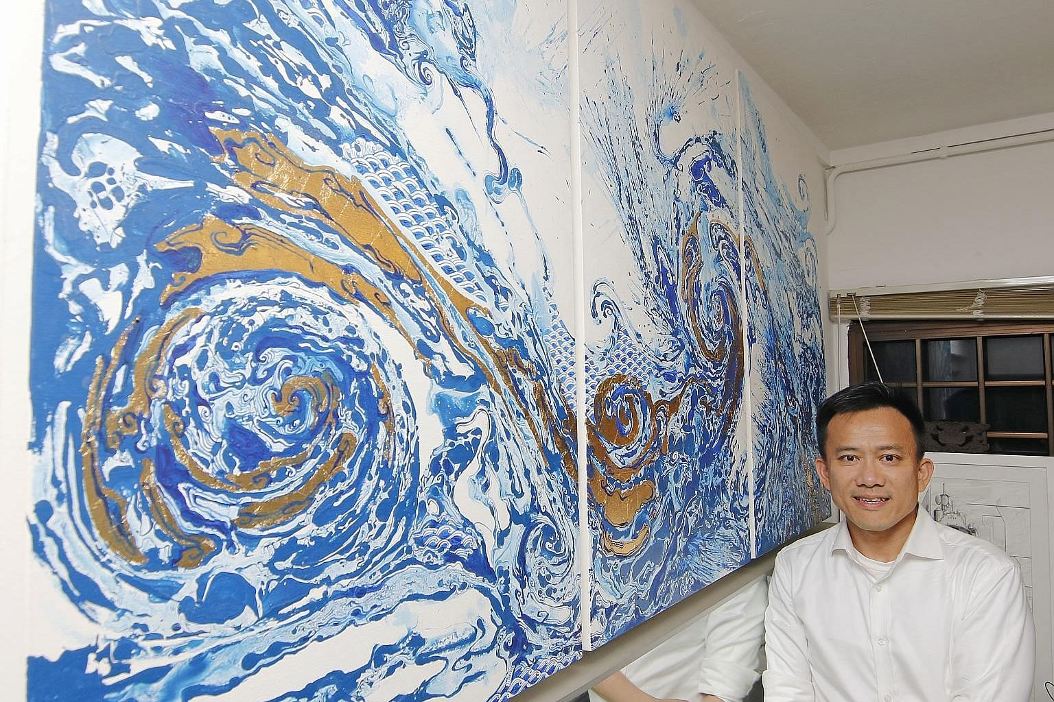 A painting by Thai artist Pannaphan Yodamanee is the most expensive artwork in property agent Nick Lim's collection.