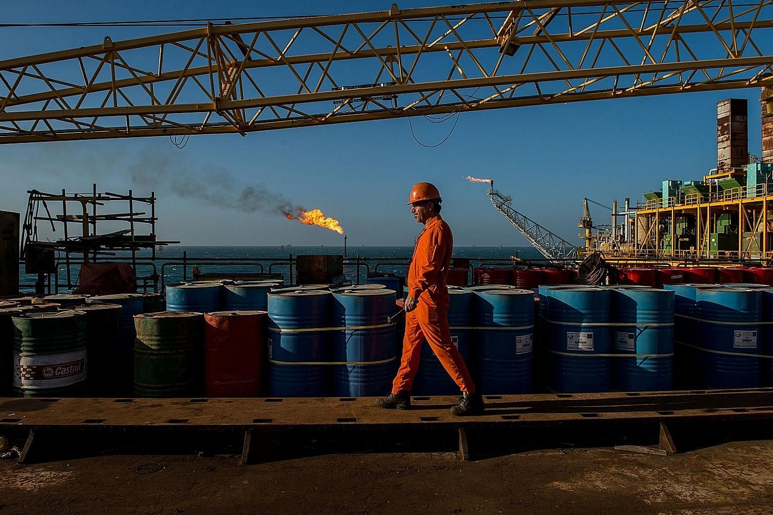 An Iranian oil field. The US on Monday exempted some economies which are big importers of Iranian oil - such as China, India, Japan, South Korea, Taiwan, as well as Italy and Greece, two EU members - from its Iran sanctions. But the exemptions are on