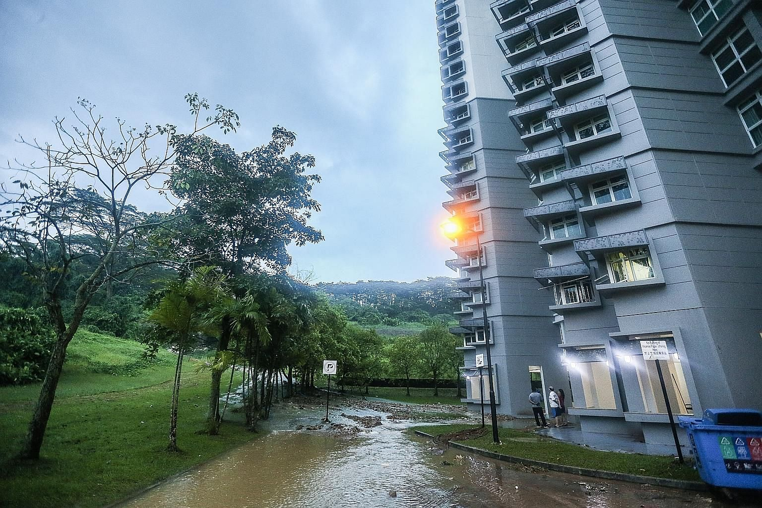 """Several parts of western Singapore experienced flash floods after intense rain yesterday evening, said national water agency PUB. In a Facebook post at about 8.30pm last night, it said: """"Flash floods were reported along Choa Chu Kang Way to Choa Chu"""