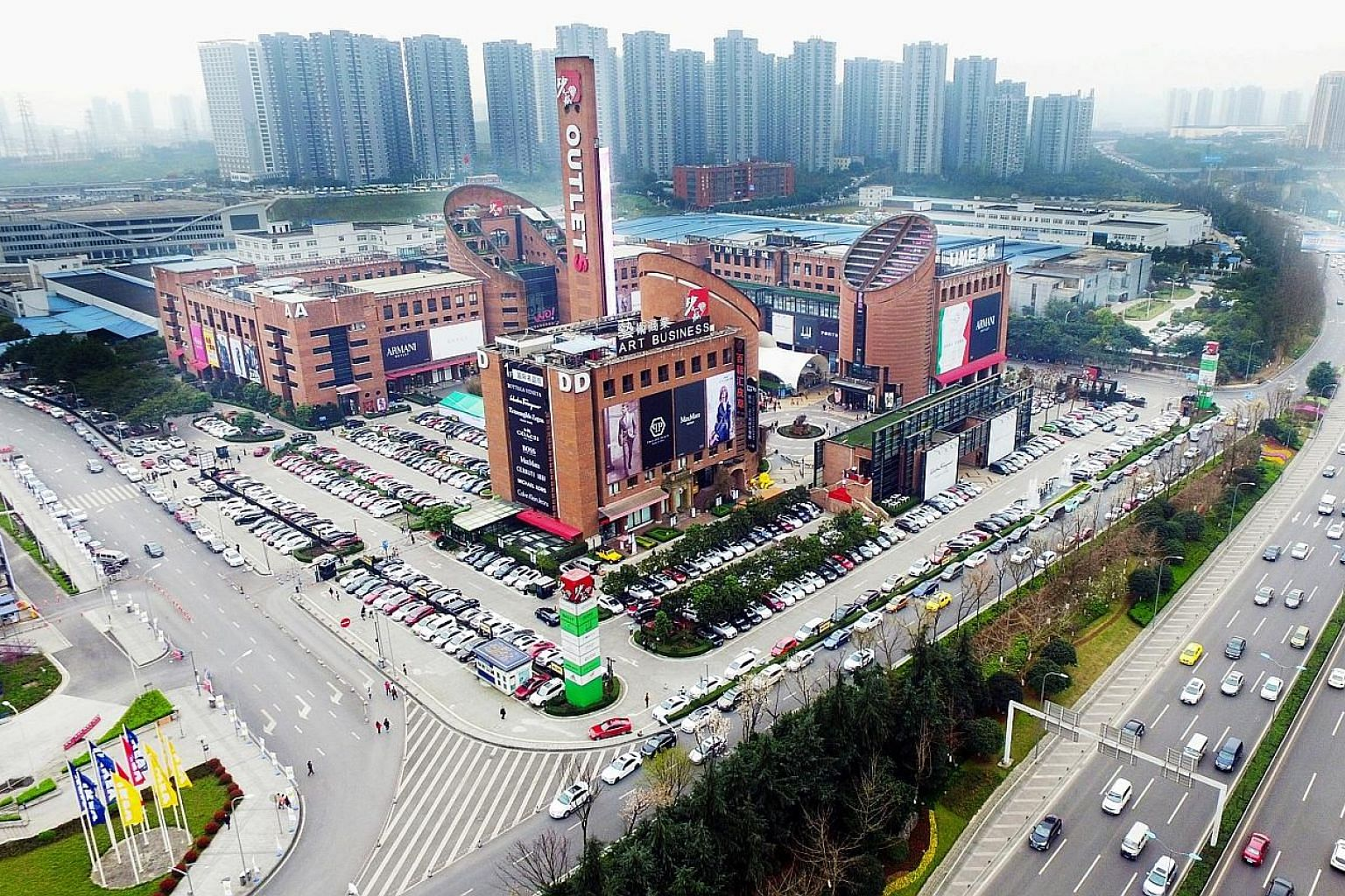 Sasseur Reit's portfolio includes outlet malls in Chongqing (above) , Kunming and Hefei, all in China.