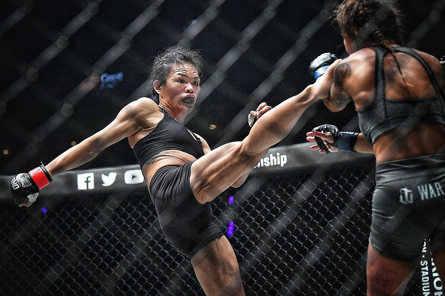 Tiffany Teo notched the biggest win of her career by beating eight-time Brazilian jiu-jitsu world champion Michelle Nicolini via unanimous decision in a strawweight bout in One Championship's Heart of the Lion event at the Singapore Indoor Stadium on