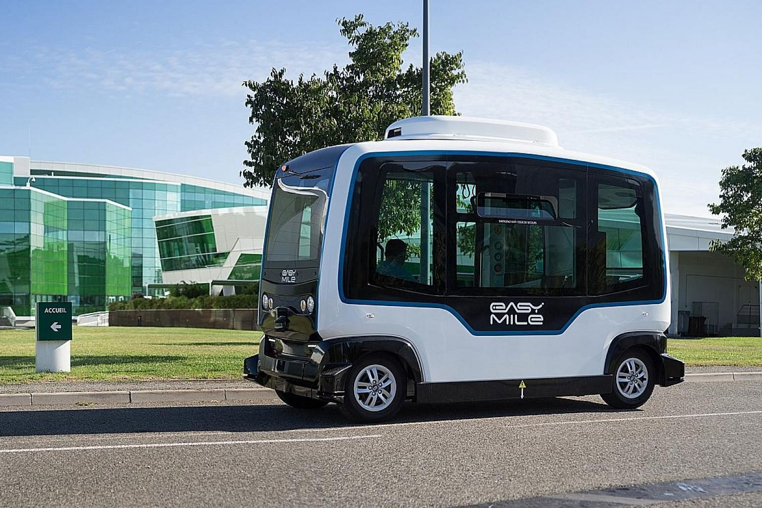 French start-up EasyMile's EZ10 autonomous shuttle will ply a 1.6km route on the National University of Singapore campus from next March as part of a year-long trial with ComfortDelGro and automotive distributor Inchcape.