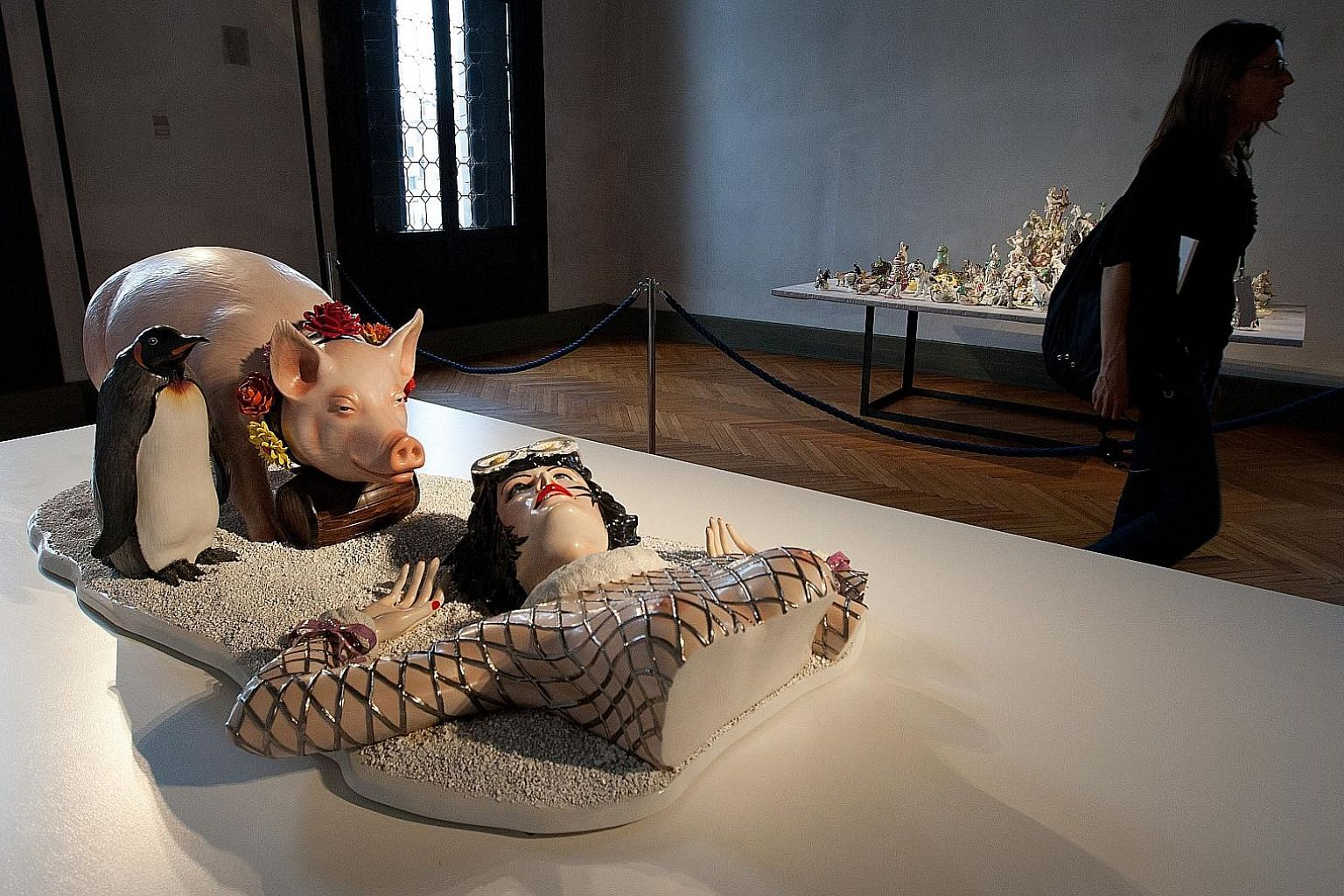 Fait d'hiver (1988, above), a sculpture by American artist Jeff Koons, at the Venice Biennale in 2011.