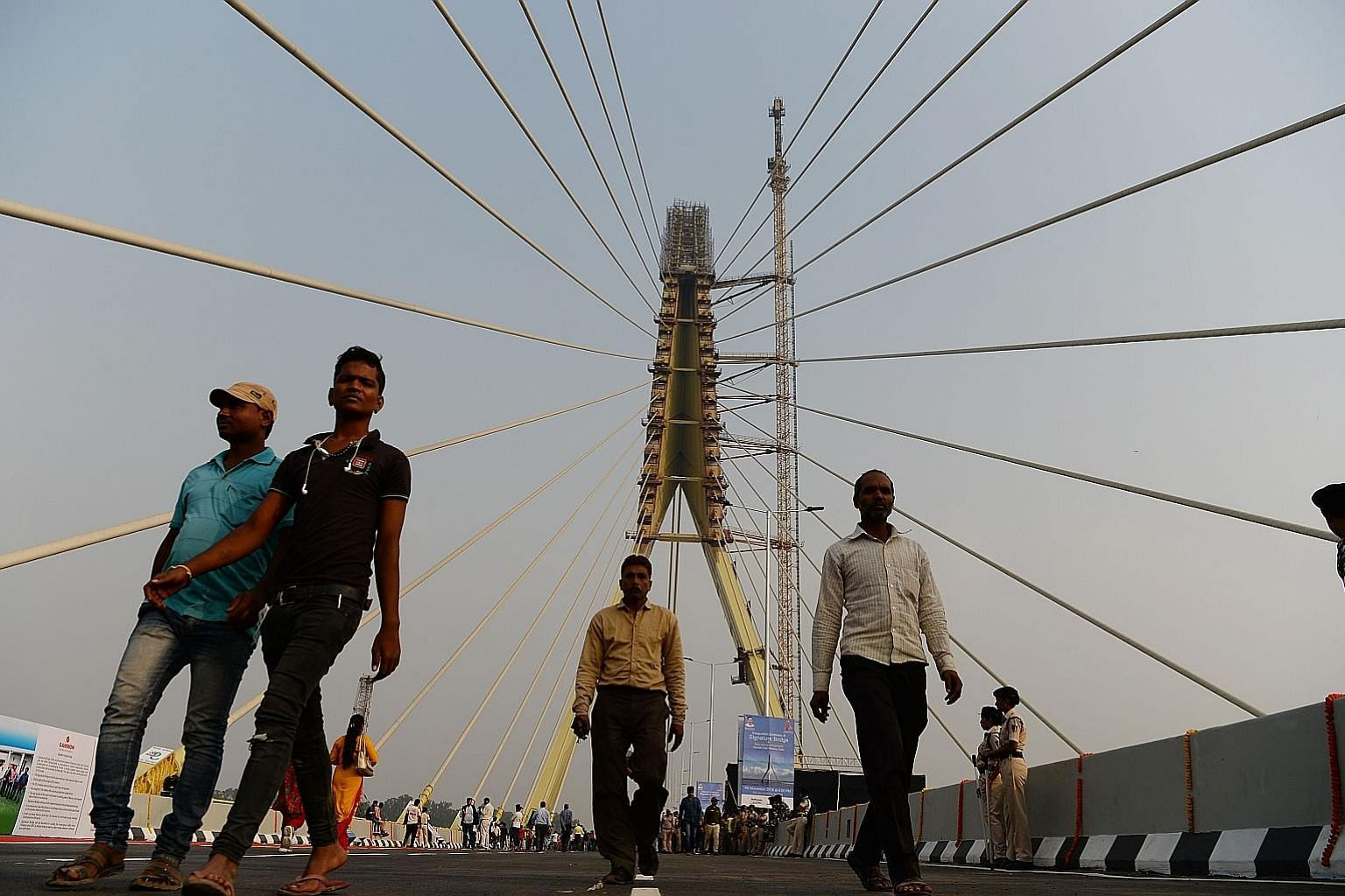 The Signature Bridge, a new landmark in Delhi. India's economic growth positions the South Asian country as a realistic strategic partner for Gulf Cooperation Council states in the long run, says the writer, adding that it could also potentially emer