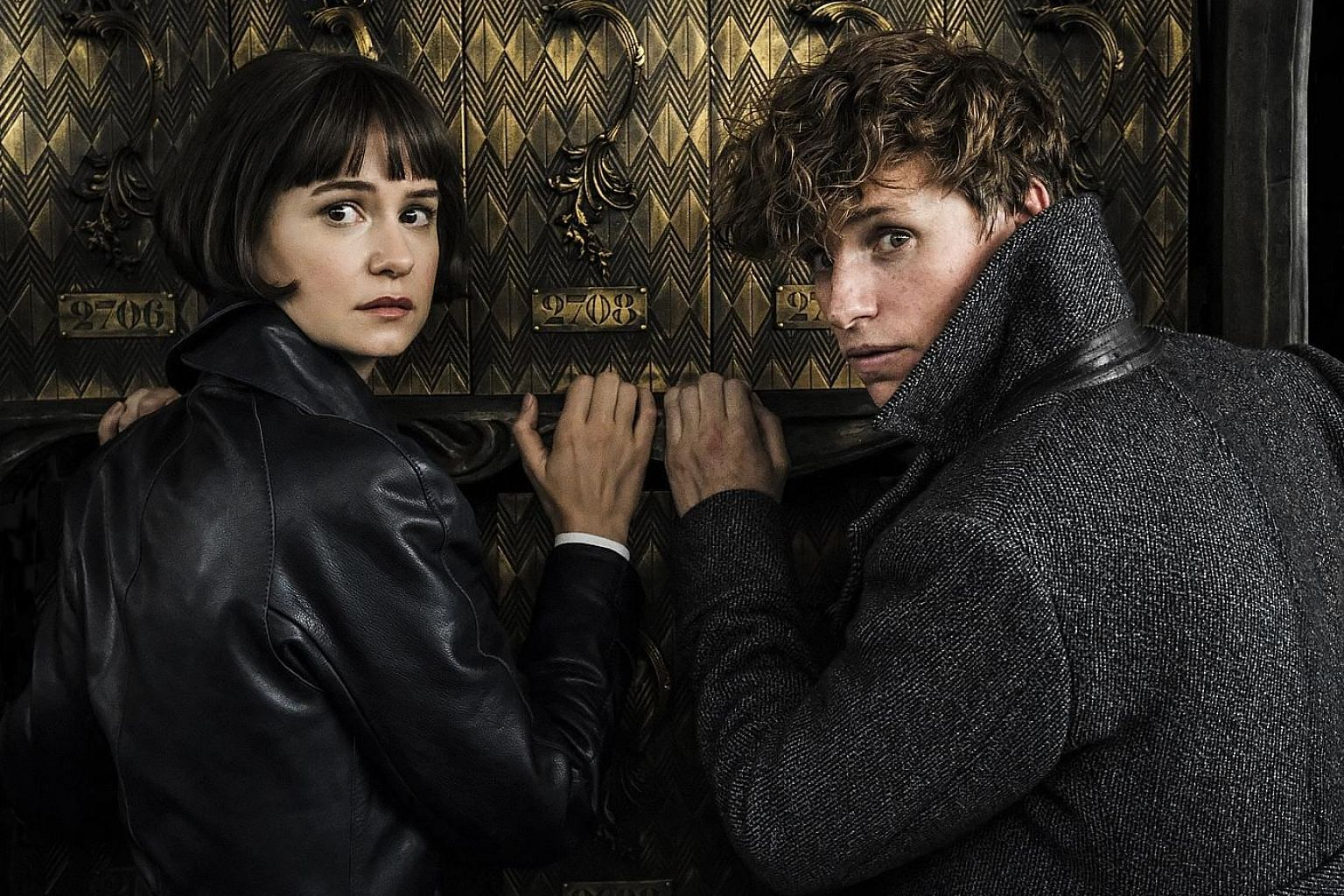 "In Fantastic Beasts: The Crimes Of Grindelwald, Eddie Redmayne plays Newt, a wizard and ""magi-zoologist"", and Katherine Waterston is Tina, a magical law-enforcement officer."