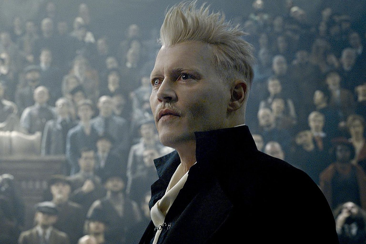 Johnny Depp is Grindelwald, an evil wizard, in Fantastic Beasts: The Crimes Of Grindelwald.