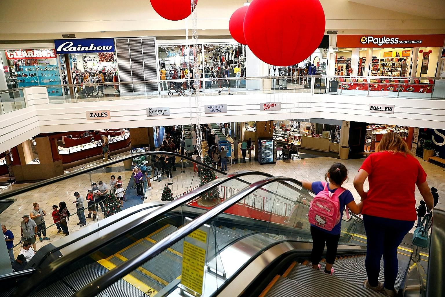 A shopping mall in Las Vegas. The US economy expanded at a 3.5 per cent annual pace in the third quarter on the back of strong consumer spending, with unemployment at the lowest level since 1969.