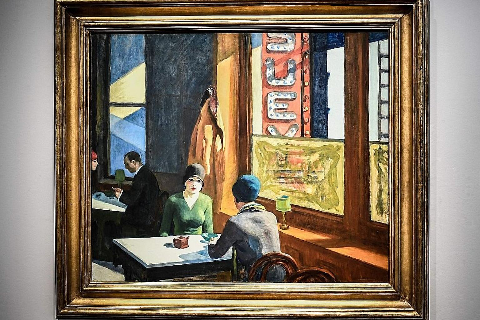 Chop Suey, a much-exhibited painting of two young women seated in a sunlit Chinese restaurant, was sold for a record price at a Christie's auction.