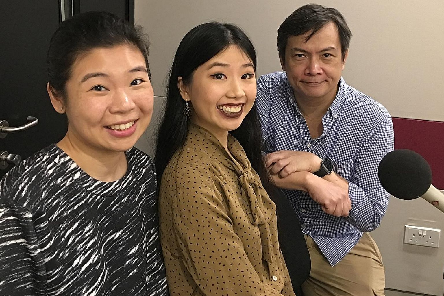Life Picks podcast host (from left) Melissa Sim is joined by ST reporters Olivia Ho and John Lui.