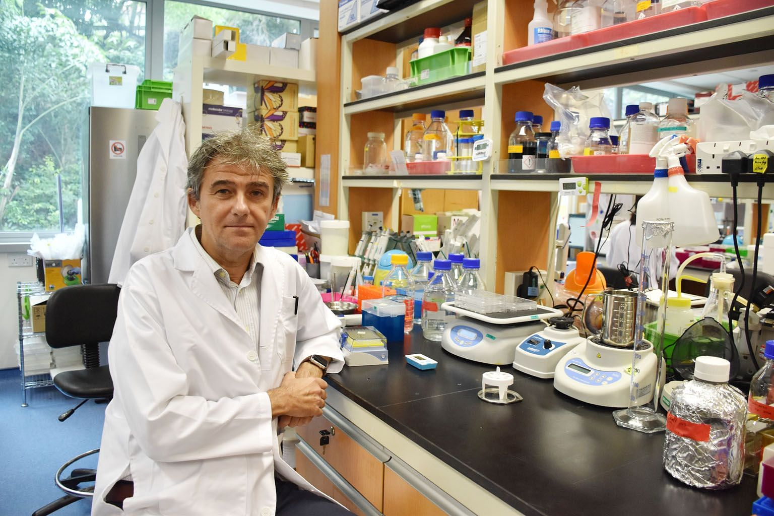 "Professor Carlos Ibanez says the use of the molecule to activate the ""death receptor"" of melanoma skin cancer cells presents an option for a new treatment method for the remaining 45 per cent of melanoma skin cancer patients for whom current treatmen"