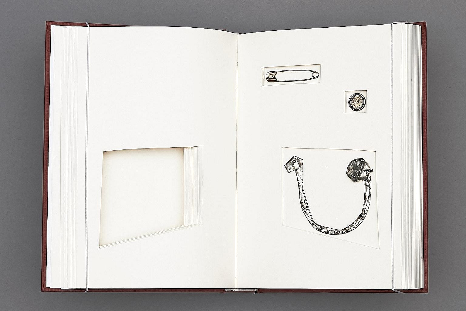 Above: Lucy Liu creates art using found objects and books. Left: Lost And Found (Book 3).