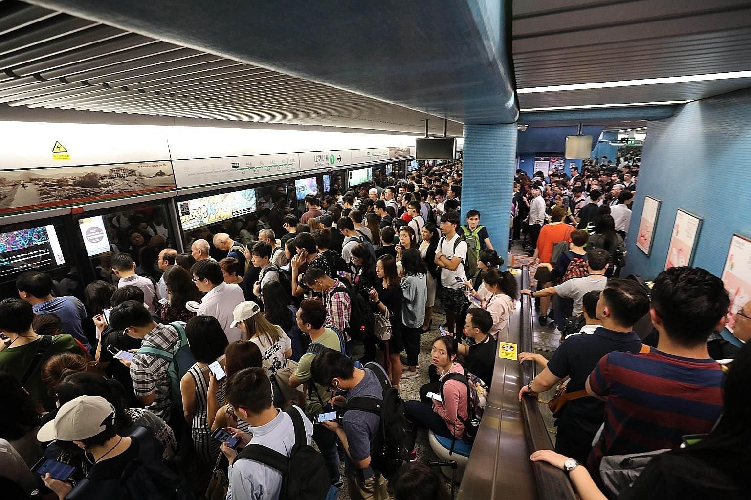 Train services on the four major lines of Hong Kong's MTR, which serves over four million passengers daily, were disrupted for up to six hours on Oct 16.
