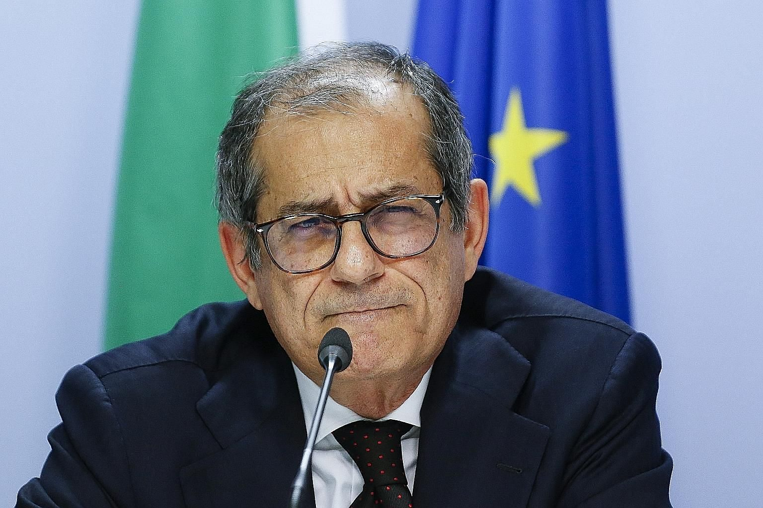 Italian Finance Minister Giovanni Tria cites the collapse of a bridge in which 43 people died, and the damage on the economy inflicted by bad weather as further evidence of the urgent need for extra spending.