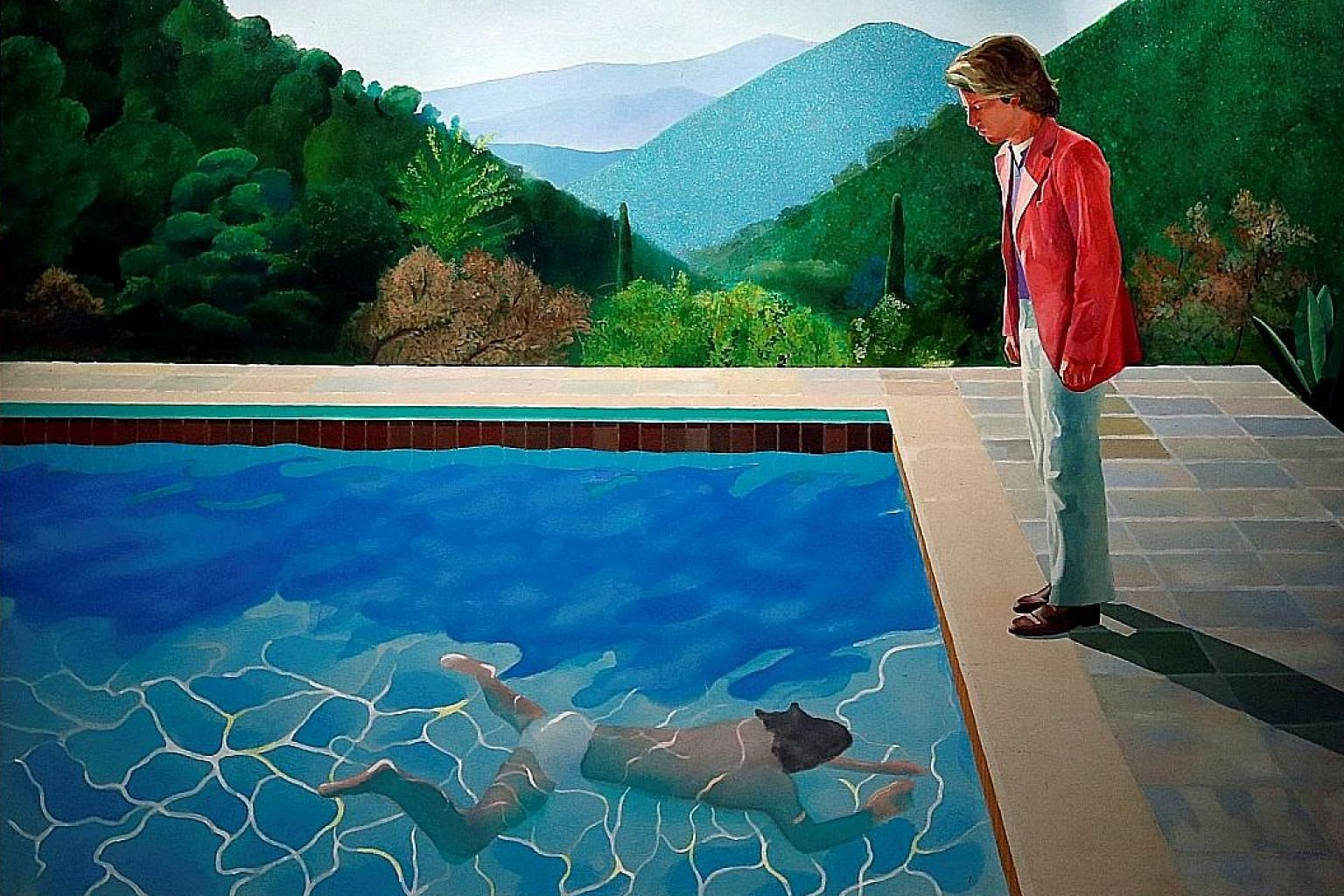 David Hockney's Portrait Of An Artist (Pool With Two Figures) was sold at auction earlier this month for more than $124 million, making him the living artist with the most expensive work sold at auction.