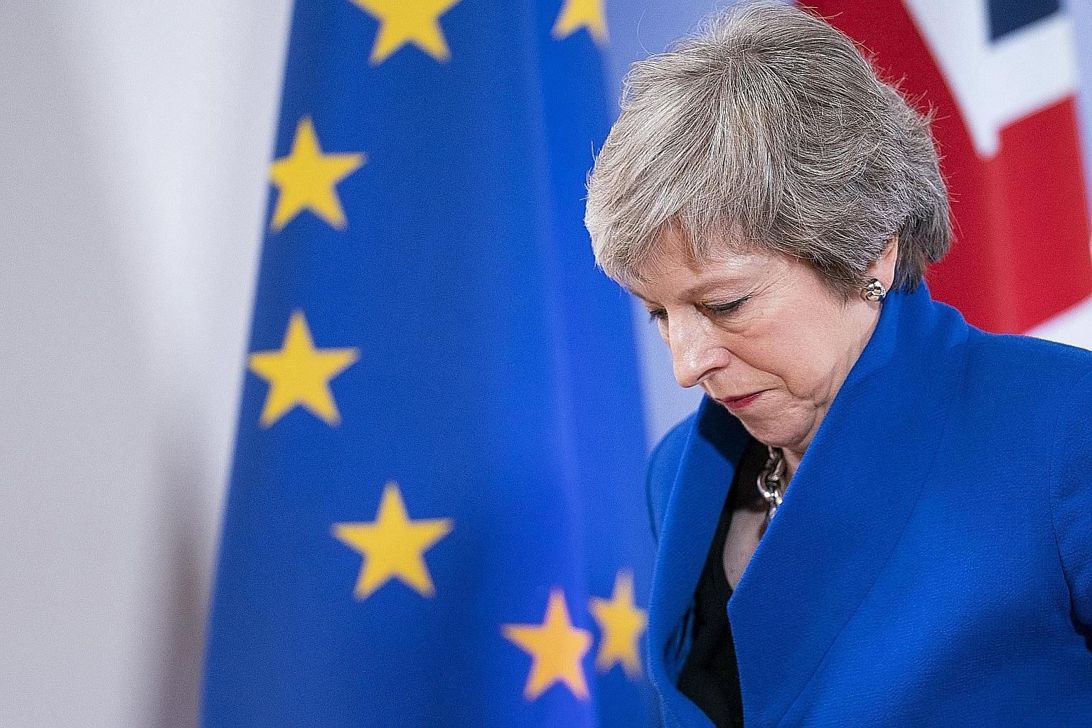 British Prime Minister Theresa May in Brussels on Sunday. The EU has warned that the agreed Brexit deal is the only deal possible.