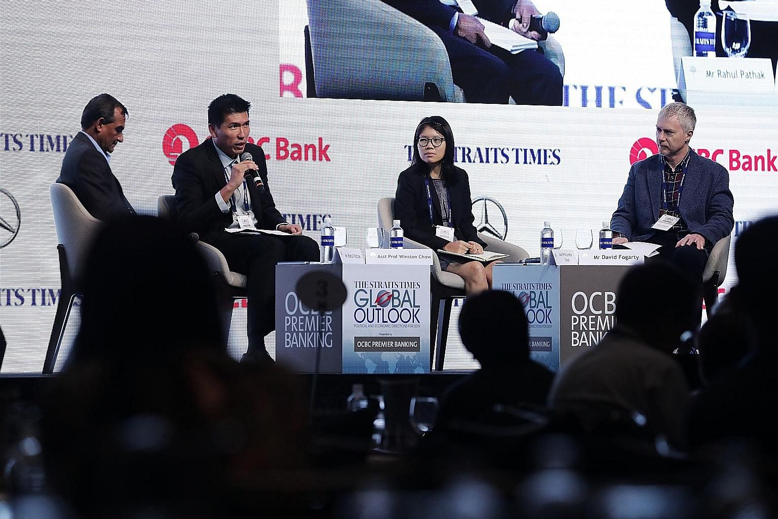 (From left) Moderator and ST associate editor Rahul Pathak, Assistant Professor Winston Chow of the National University of Singapore, Assistant Professor Lynette Cheah of the Singapore University of Technology and Design, and ST assistant foreign edi