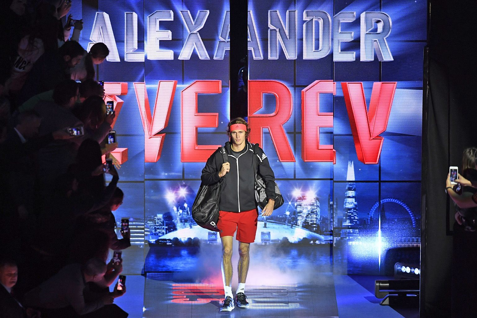 Alexander Zverev making his entrance for the final, where he beat world No. 1 Novak Djokovic to win the ATP Finals in London this month. The 21-year-old German is likely to be in the elite field of eight to strut their stuff here from 2021 should Sin