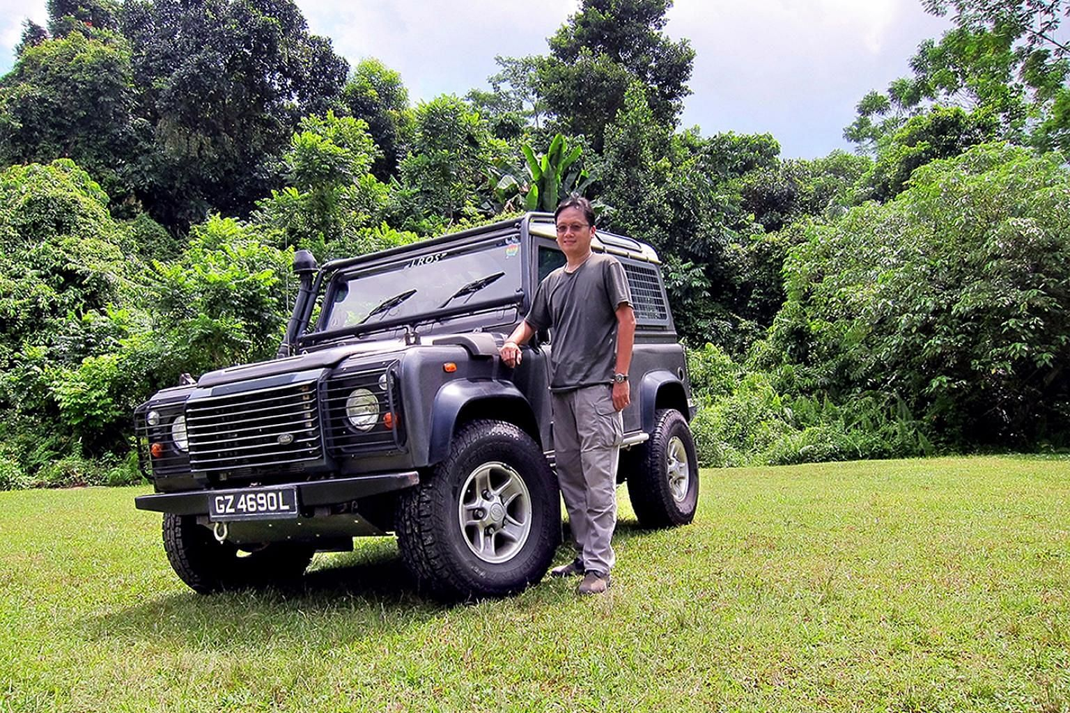 Mr Tan Meng Choon bought the Land Rover Defender in 2006 for $79,000.