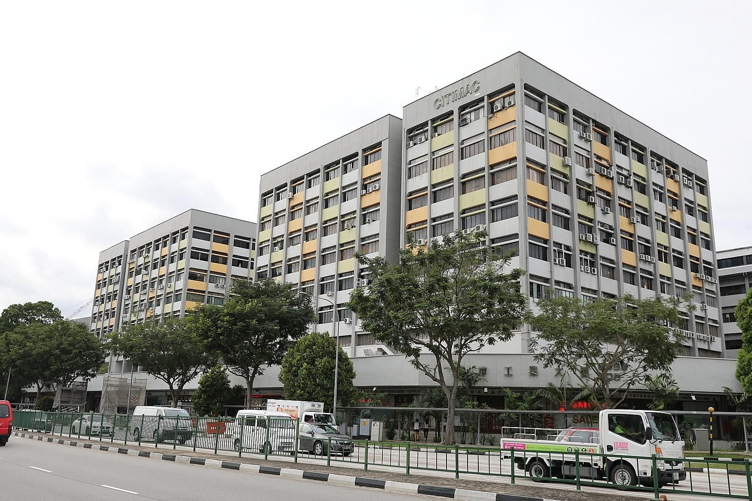 The eight-floor Citimac Industrial Complex is a freehold building near Tai Seng MRT comprising a factory, warehouse and showroom units. It was sold to a foreign developer last year.