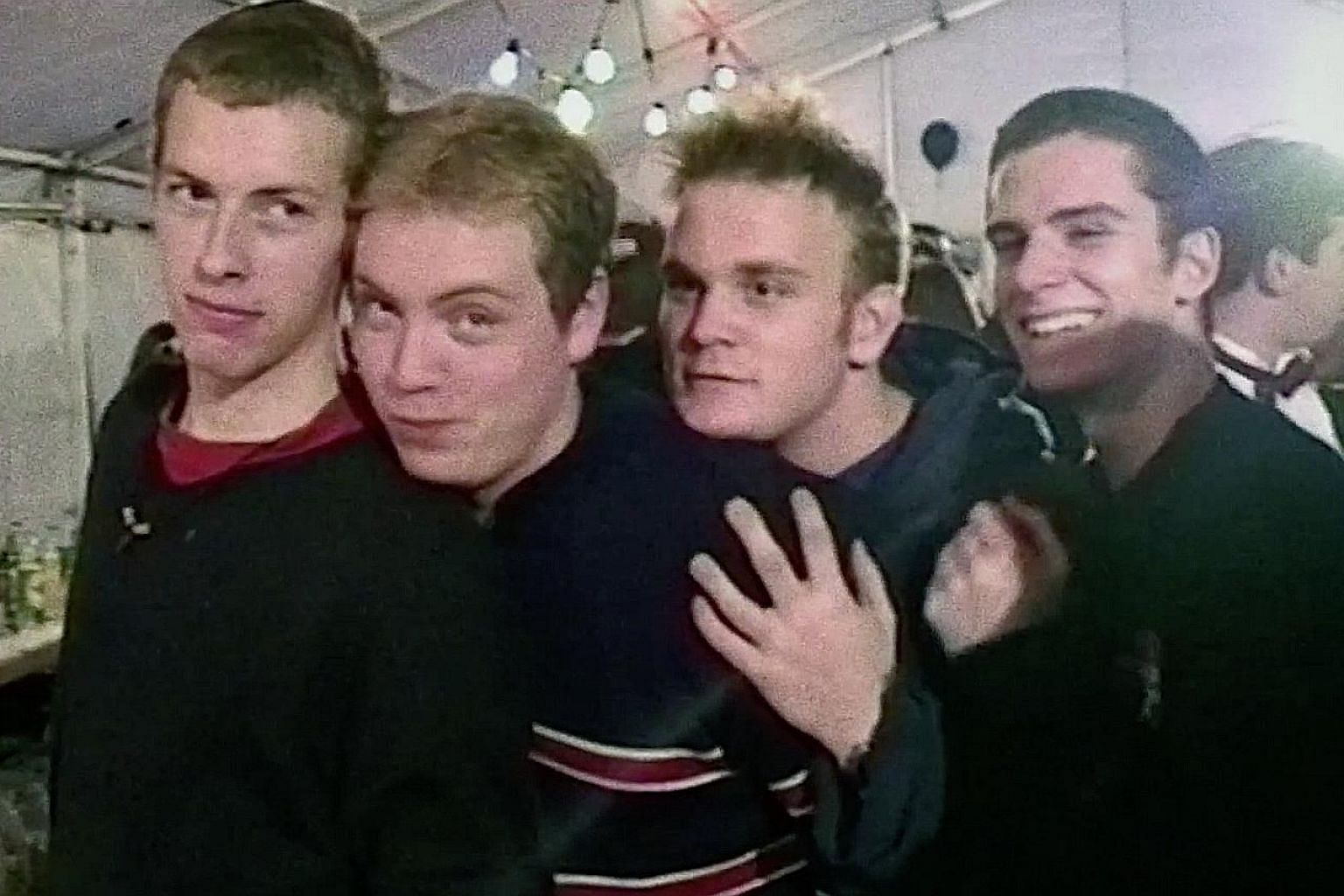 (From left) Chris Martin, Jonny Buckland, Will Champion and Guy Berryman in Coldplay: A Head Full Of Dreams, a kaleidoscopic jaunt through the band's meteoric rise from playing seedy club gigs to their most recent stadium-filling world tour.