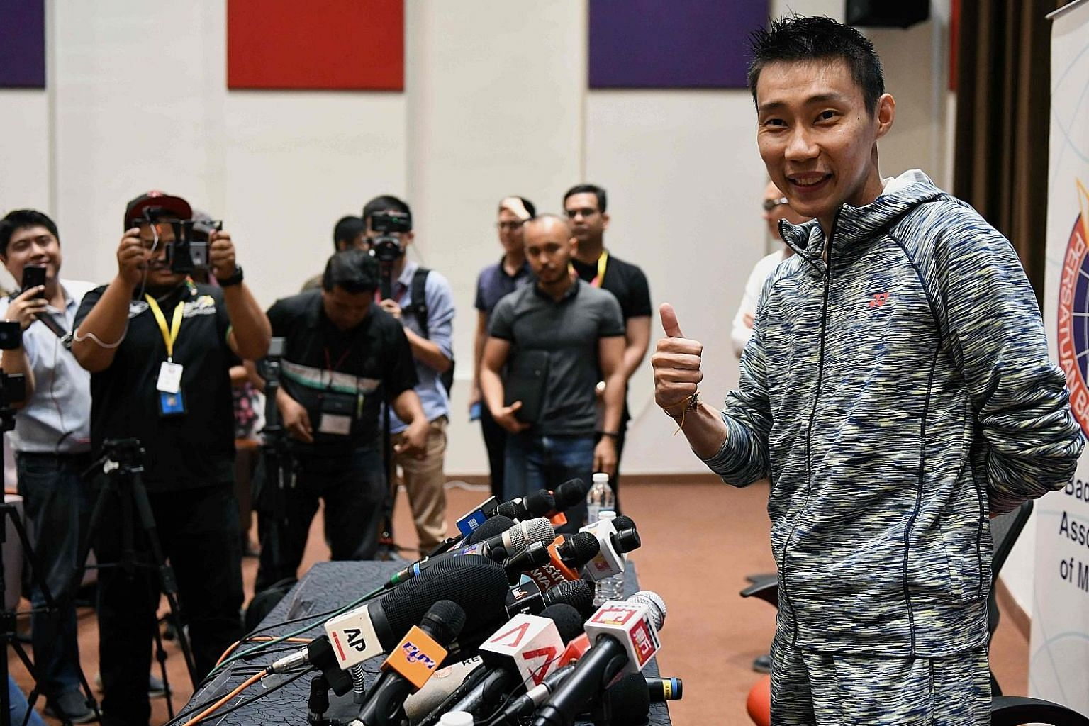 All's well with Lee Chong Wei after his press conference on Nov 8. The badminton star had been diagnosed with cancer in July but has since recovered.