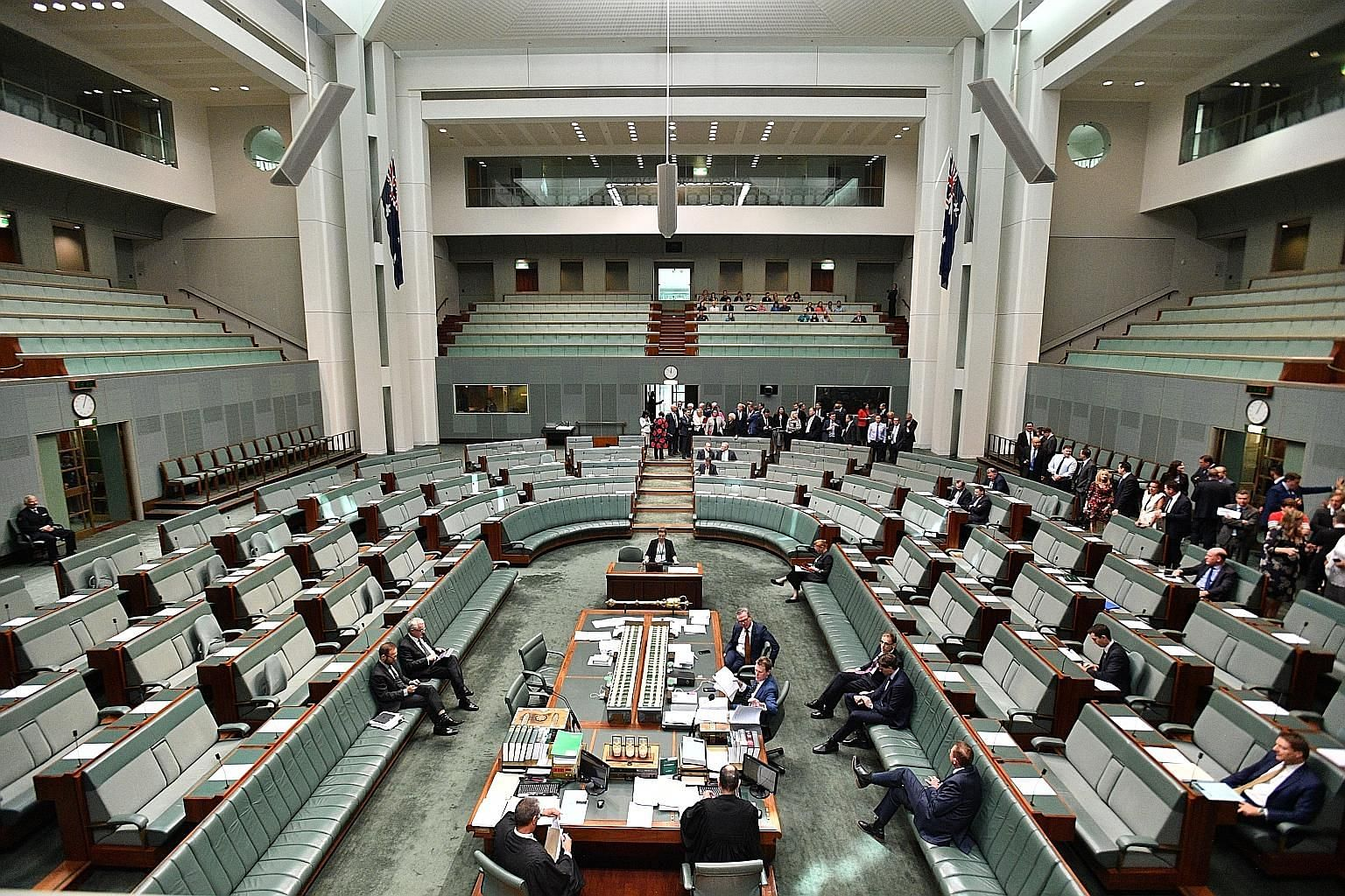 Australian MPs during a session on the Encryption Bill in the House of Representatives at Parliament House in Canberra yesterday. Critics have warned the legislation could undermine security across the Internet, jeopardising activities from online vo