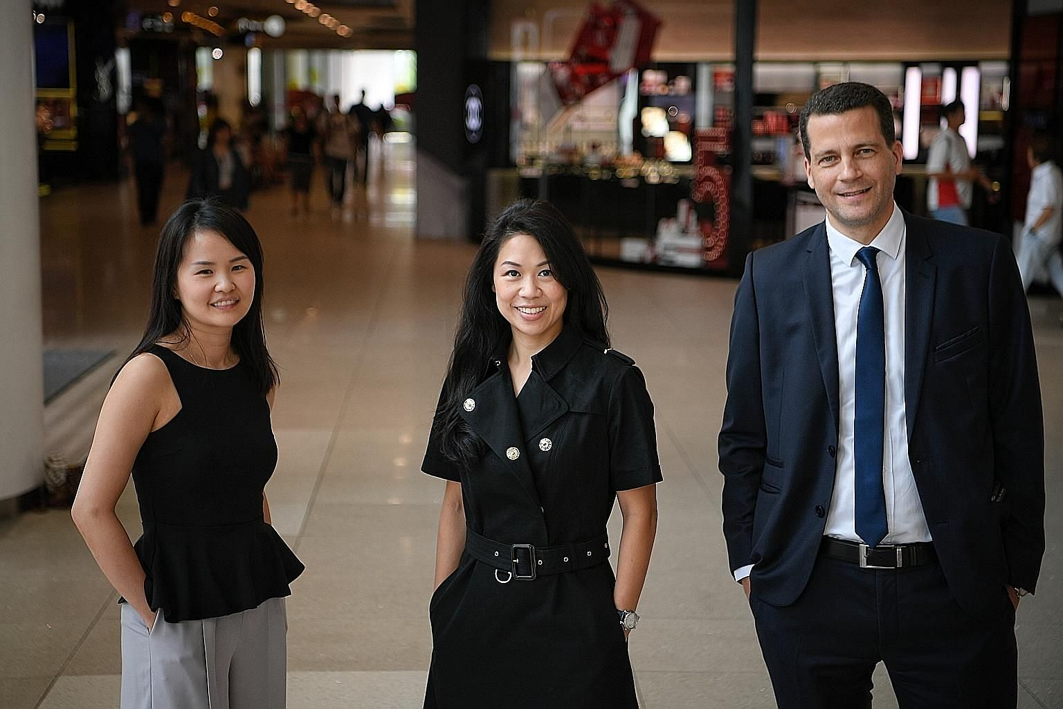 The team behind The Break Away Holiday Charity: (From left) Ms Minz Xu, Madam Sharin Lim and her husband, Mr Andrea Meierhofer. The charity works with family service centres to reward needy families who are trying their best to resolve their problems
