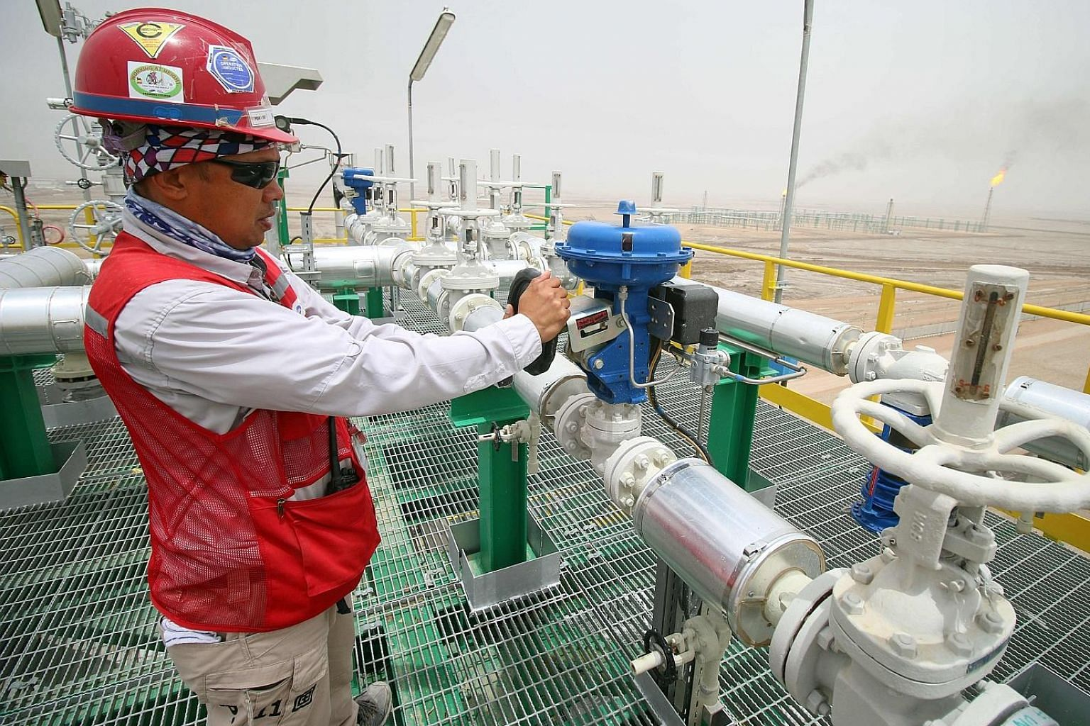 Degassing station facilities at the Zubair oil and gas field north of the southern Iraqi province of Basra. Opec members reached an agreement to cut oil production last Friday, which is a welcome development for financial markets, according to FXTM resear
